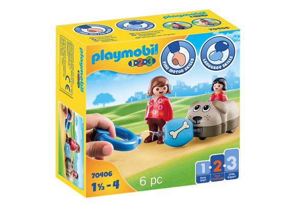 Playmobil - 1.2.3 - Animal train dog (70406)