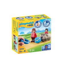 Playmobil - 1.2.3 - Trækhund (70406)