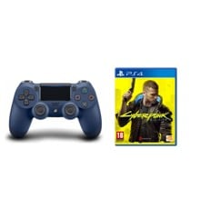 Sony PlayStation DualShock 4 Controller Midnight Blue V2 + Cyberpunk 2077
