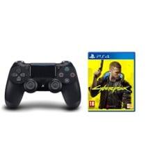 Sony Dualshock 4 Controller v2 - Black + Cyberpunk 2077