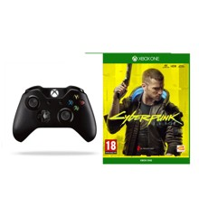 Xbox One Controller Wireless Black + Cyberpunk 2077