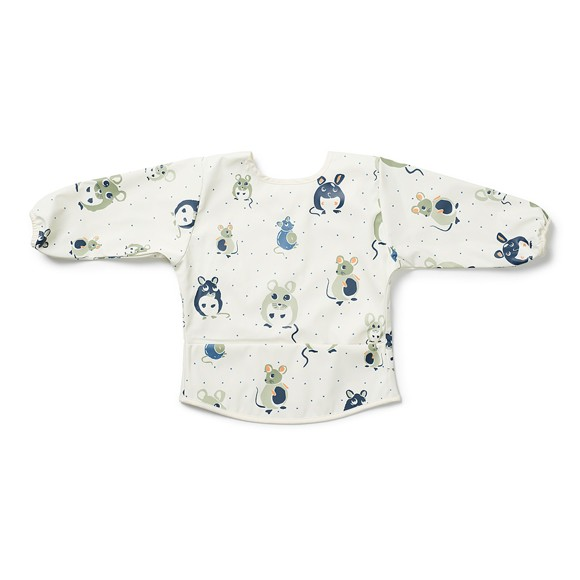 Elodie Details - Longsleeved Baby Bib - Forest Mouse