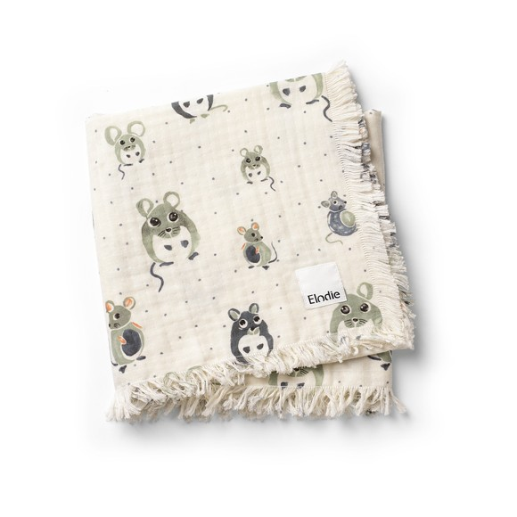 Elodie Details - Soft Cotton Blanket - Forest Mouse