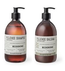 Ecooking - Plejende Shampoo 500 ml + Plejende Balsam 500 ml