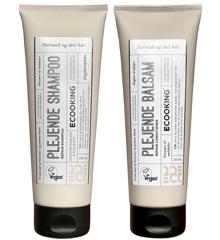 Ecooking - Plejende Shampoo 250 ml + Plejende Balsam 250 ml