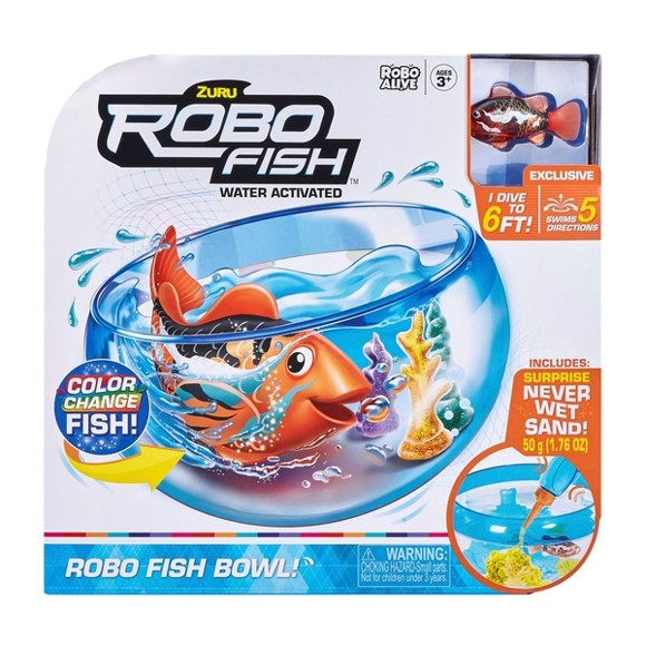 RoboAlive - Robotic-Robo Fish Series 1 - Playset - Orange (50084)