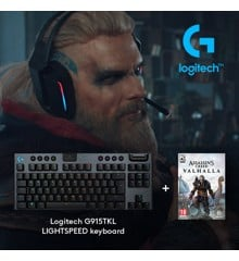 Logitech - G915 TKL Clicky Gaming Keyboard​ + Assassin's Creed: Valhalla PC Bundle