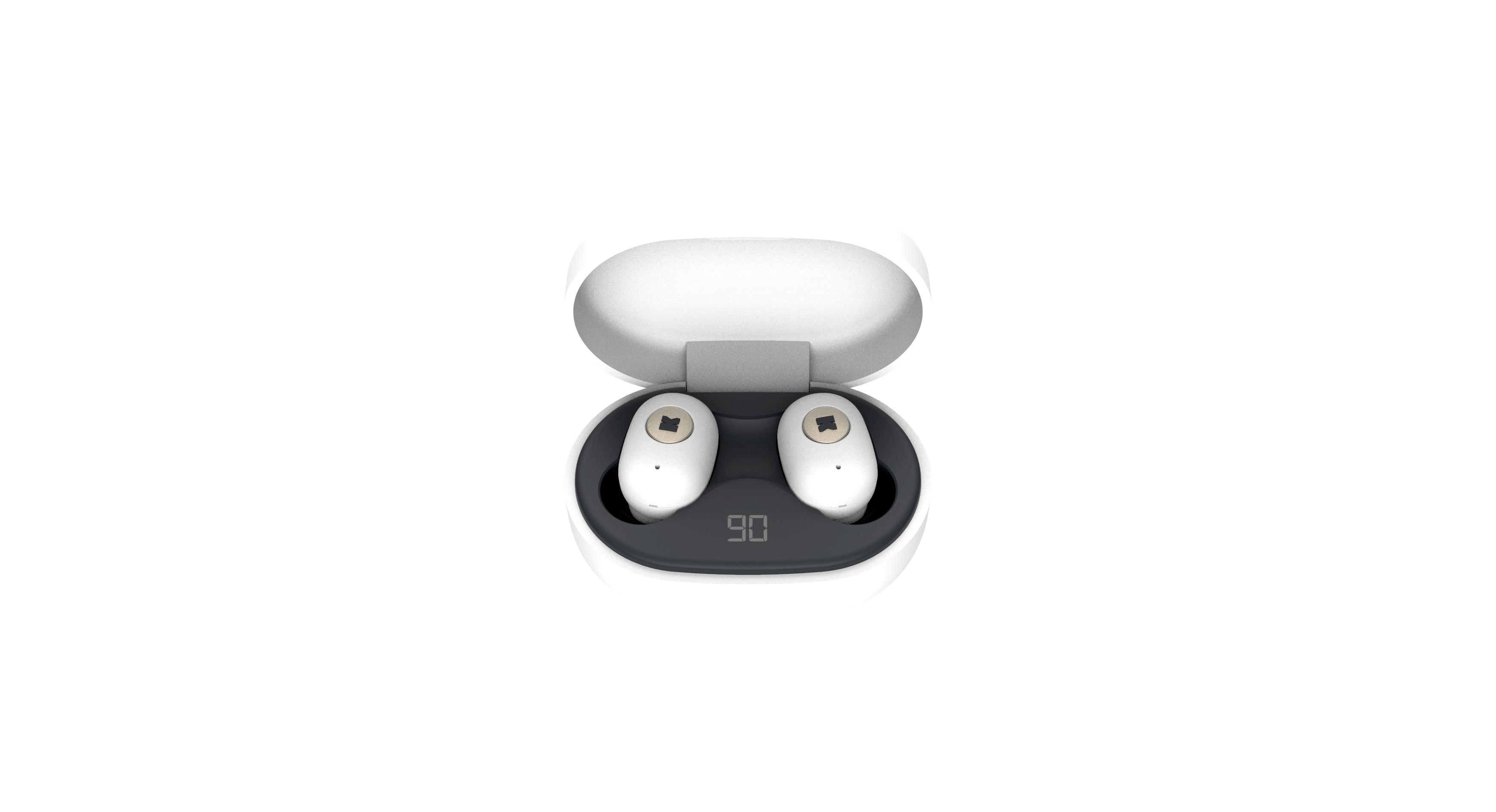 Billede af KreaFunk - aBEAN In-Ear Bluetooth Høretelefoner - Hvid