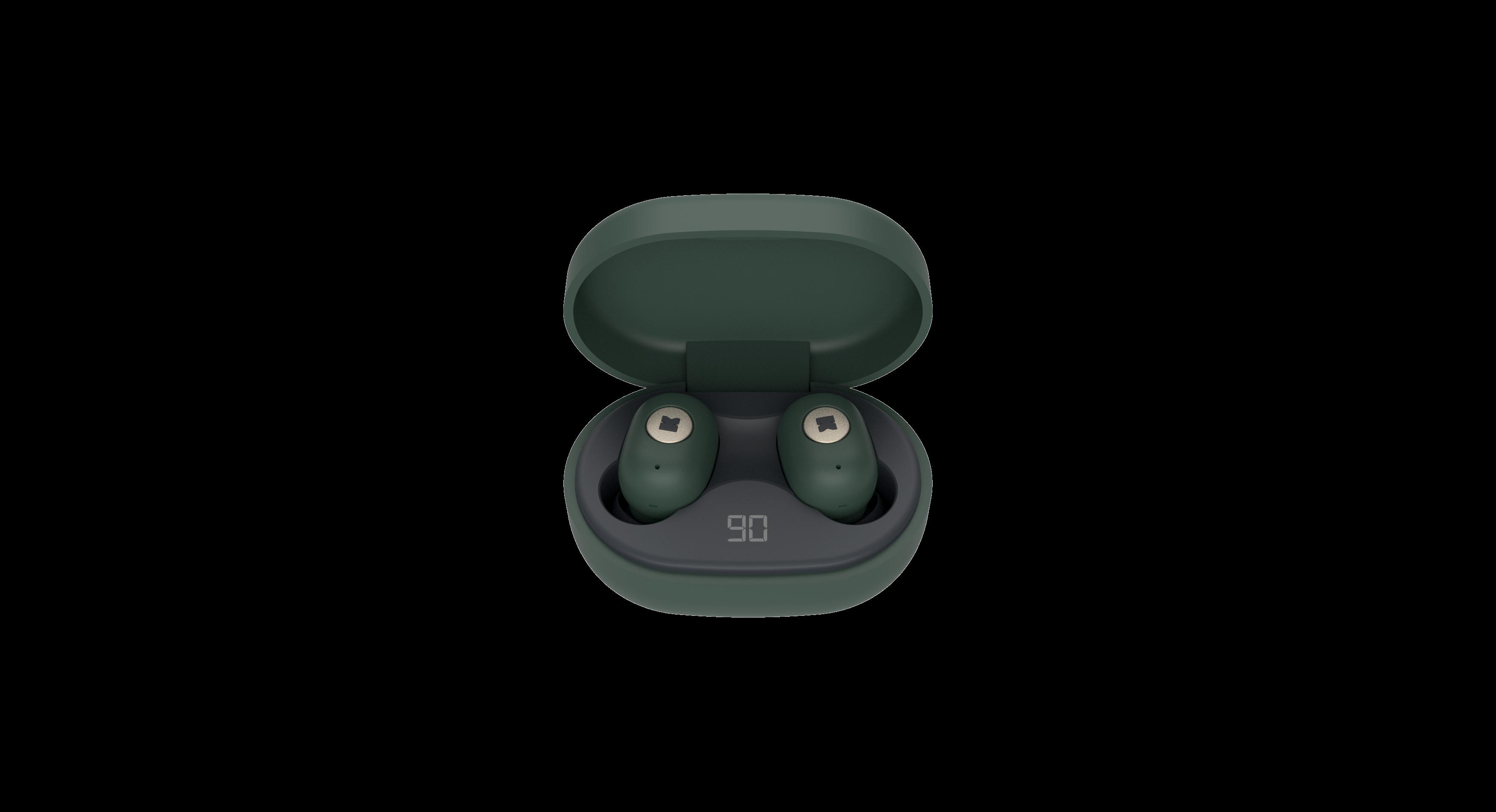 Billede af KreaFunk - aBEAN In-Ear Bluetooth Høretelefoner - Shady Grøn