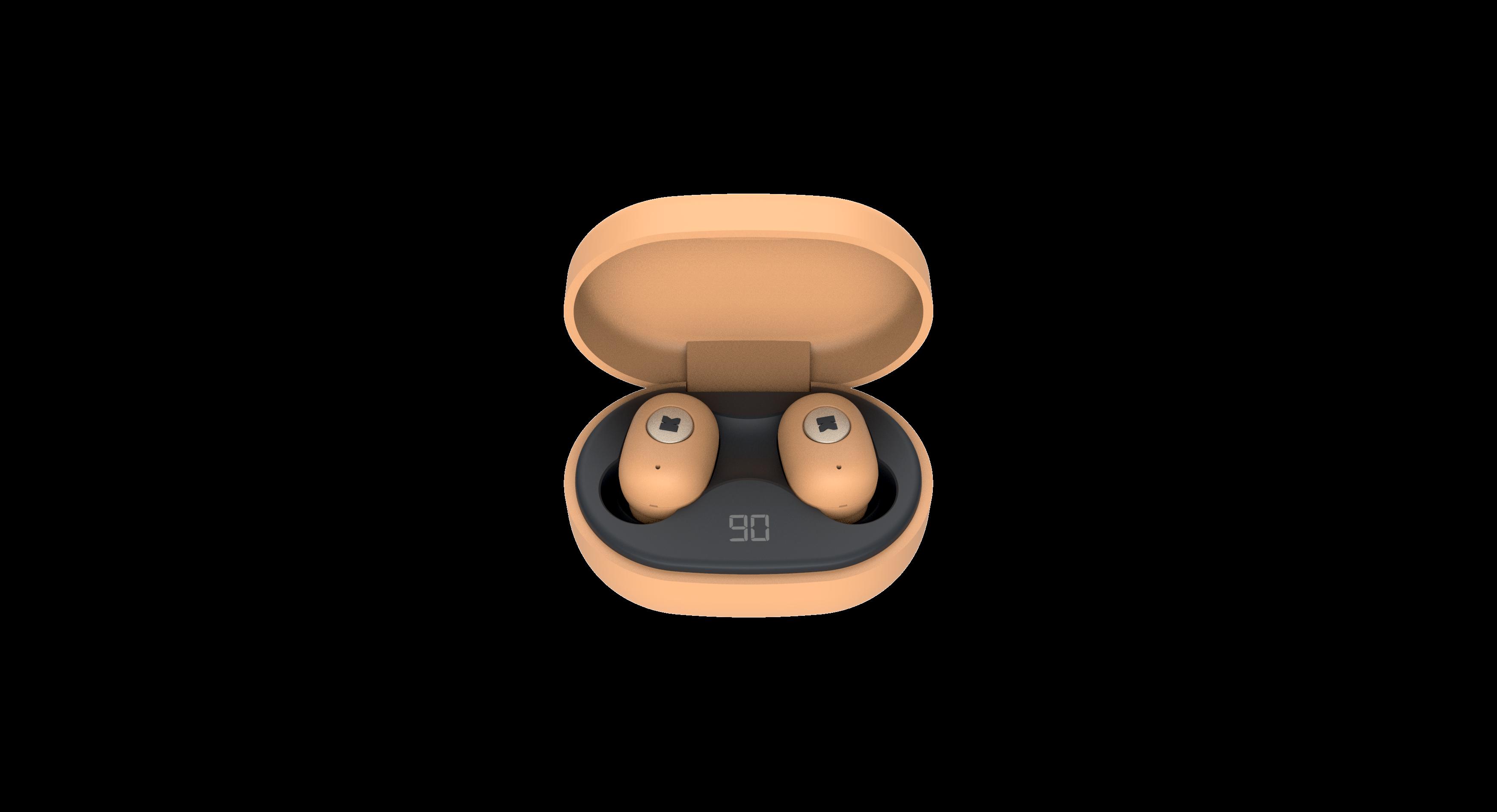 Billede af KreaFunk - aBEAN In-Ear Bluetooth Høretelefoner - Sunny Orange
