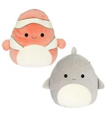Squishmallows - Flip A Mallow 13 cm - Clownfish & Shark