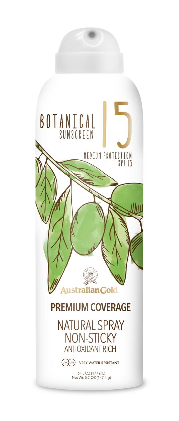 Australian Gold - Botanical Sunscreen Spray SPF 15 177 ml