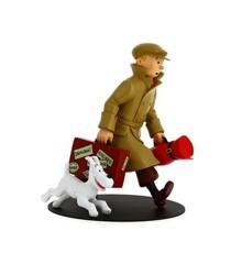 Tintin med kuffert(ankomst) Statue