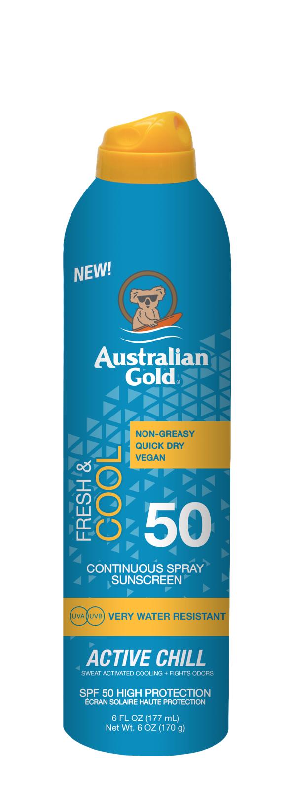 Australian Gold - Active Chill Sunscreen Spray SPF 50 177 ml