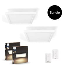 Philips Hue - 2x Aurelle Hue Panel Ceiling Lamp - Bundle