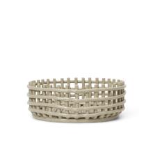 Ferm Living - Ceramic Centrepiece Kurv - Cashmere