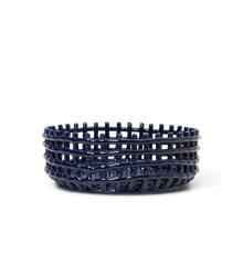 Ferm Living - Ceramic Centrepiece Basket - Blue (1104263534)