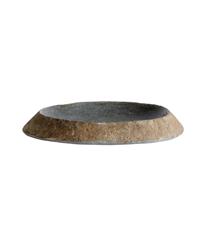 Muubs - Valley Tray/Dish Ø 25-30 cm - Grey/Natur (9210000112)