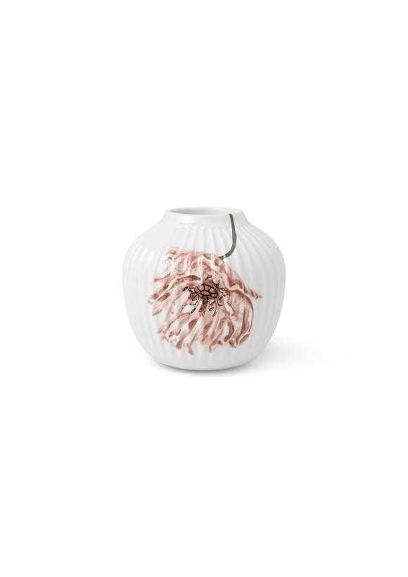 Kähler - Hammershøi Poppy Vase 13 cm - White With Deko (693018)