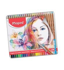 Maped - Artists - Watercolor Pencils (24 pcs)  (832424)