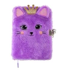 Tinka - Plush Diary with Lock - Purple Cat (8-4299)