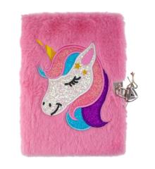Tinka - Plush Diary with Lock - Unicorn (8-4290)