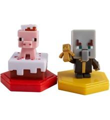 Minecraft - Boost Mini Figur 2-Pakke - Pigging out Pig & Undying Evoker (GMD16)