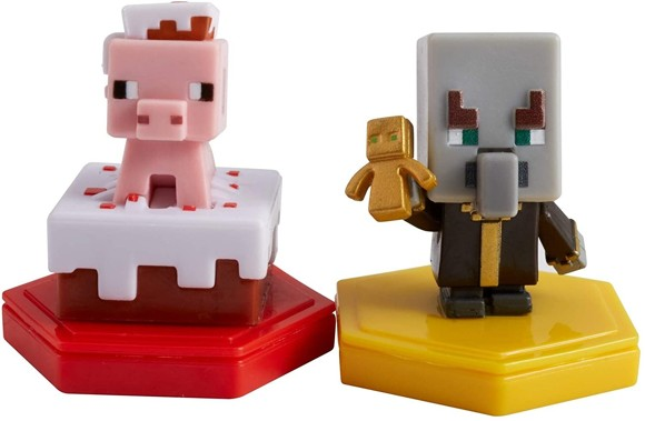 Minecraft - Boost Mini Figure 2-Pack - Pigging out Pig & Undying Evoker (GMD16)