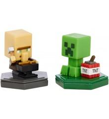 Minecraft - Boost Mini Figur 2-Pakke - Reparing Villager & Mining Creeper (GMD15)