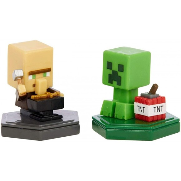 Minecraft - Boost Mini Figure 2-Pack - Reparing Villager & Mining Creeper (GMD15)