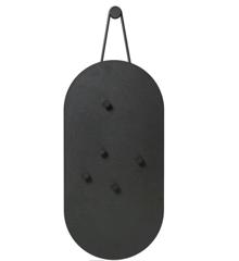 Zone - A-bulletin Board - Bulletin Board w/5 Magnets 60 x 30 cm - Black (12343)