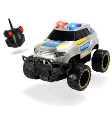 Police Offroader - Fjernstyret R/C Bil 20cm m. Lys og Lyd - 8km/t