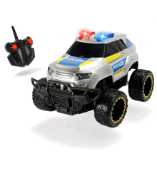 Police Offroader - R/C 20cm w. Sound and Light - 8km/t ( I-201119127 )