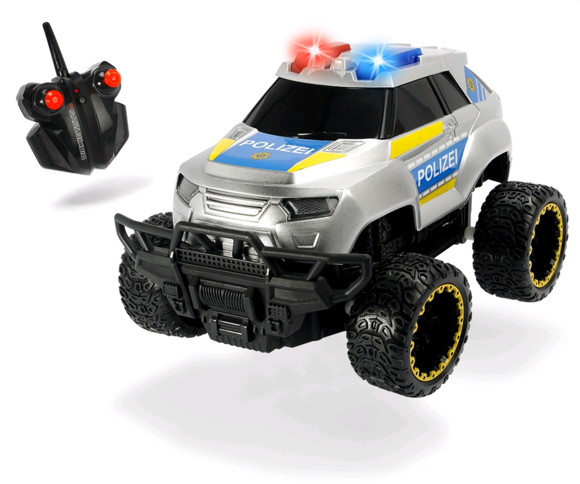 Police Offroader - R/C 20cm w. Sound and Light - 8km/t ( I-201119127 )