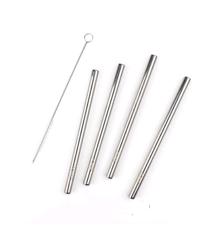 Zone - Rocks Straws 15 cm 4 Pcs. - Polished Steel (13706)