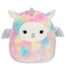 Squishmallows - 19 cm Plush - Lucy-May the Rainbow Llama Pegacorn