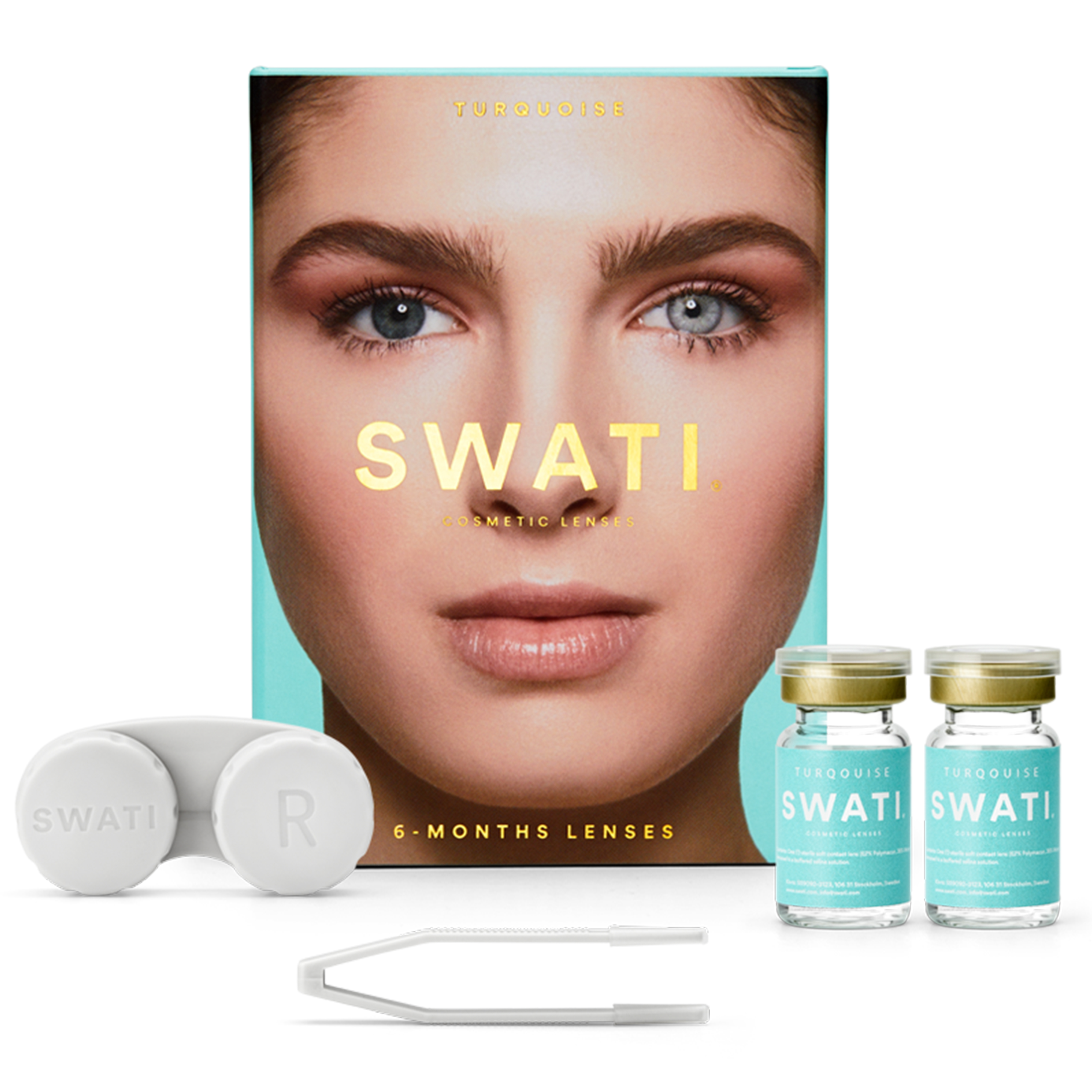 SWATI - Coloured Contact Lenses 6 Months - Turquoise