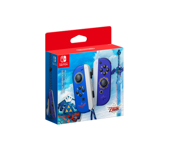 Nintendo Switch Joy-Con Controller Pair Blue Zelda Edition