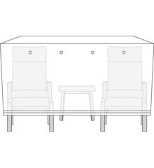 Living Outdoor - Cover For Garden Furniture 170 x 130 x 85 cm - Flint Gray (49086)