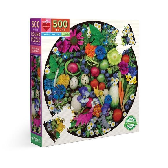 eeBoo - Round puzzle, 500 pcs - Organic Harvest (EPZFOHV)