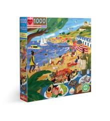 eeBoo - Puslespil - Strand, 1000 brikker (EPZTBUM)