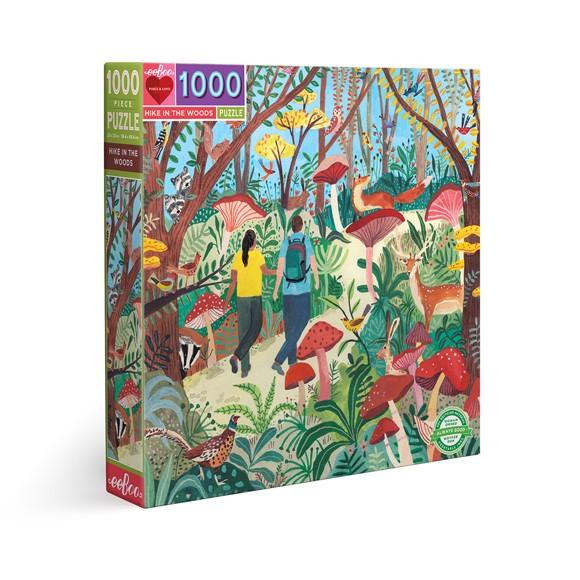 eeBoo - Puslespill - Fottur i skogen, 1000 biter