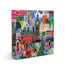 eeBoo - Puzzle 1000 pcs - London Life (EPZTLDL)