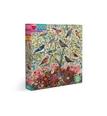 eeBoo - Puslespil - Træ med sangfugle, 1000 brikker (EPZTVCE)