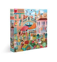 eeBoo - Puzzle 1000 pcs - Venice Open Market (EPZTVCE)