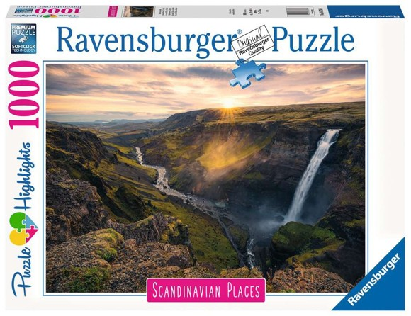 Ravensburger - Puzzle 1000 - Scandinavian Haifoss Iceland (10216738)