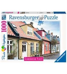 Ravensburger - Puzzle 1000 -  Scandinavian Houses in Aarhus Denmark (10216741)