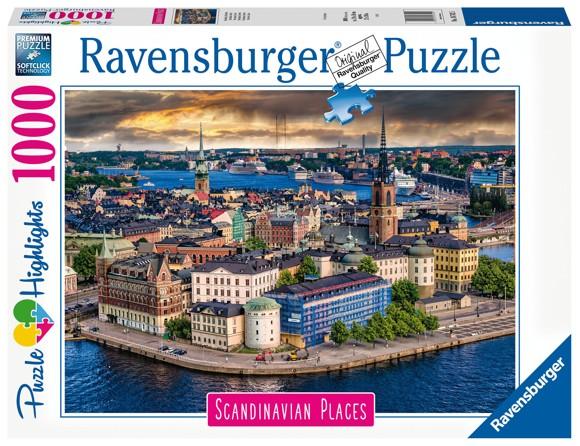 Ravensburger - Puzzle 1000 - Scandinavian Stockholm, Sweden (10216742)