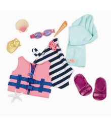 Our Generation - Dolls outfit - Bathing suit and life vest (730096)