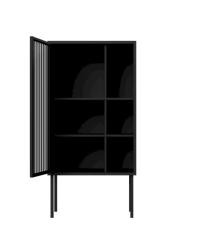 Nichba - Cabinet 156 x 78 x 40 cm - Black